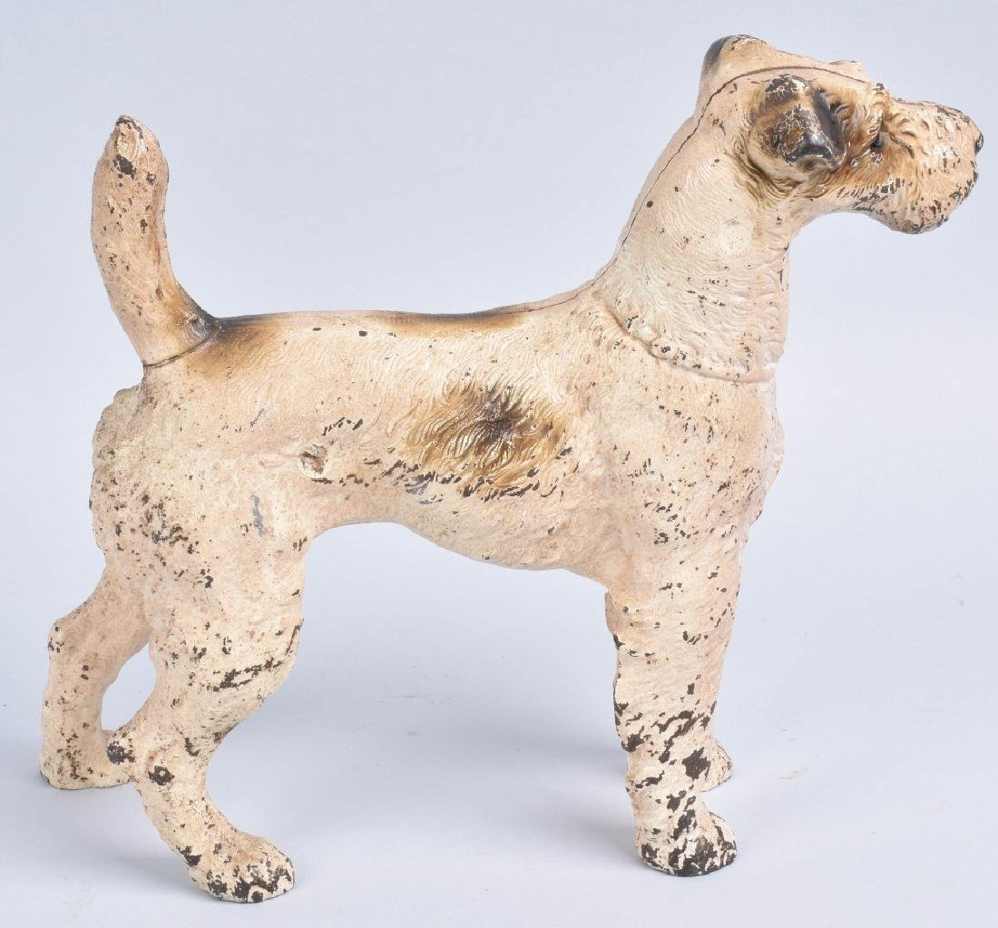 TERRIER DOG, LARGE CAST IRON DOORSTOP - 3
