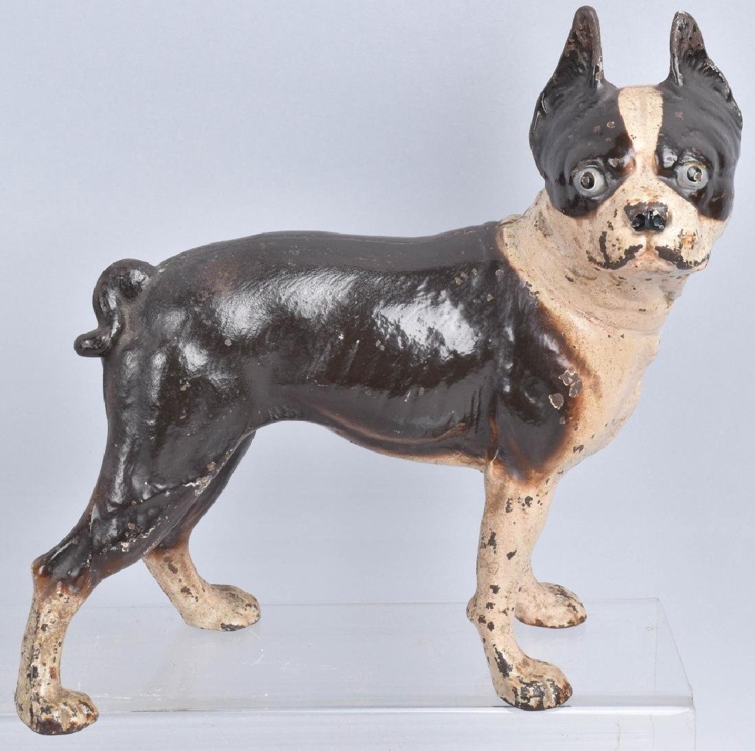 3-BOSTON TERRIER CAST IRON DOORSTOPS - 2
