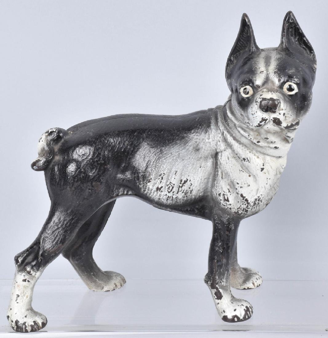 3-BOSTON TERRIER CAST IRON DOORSTOPS - 4