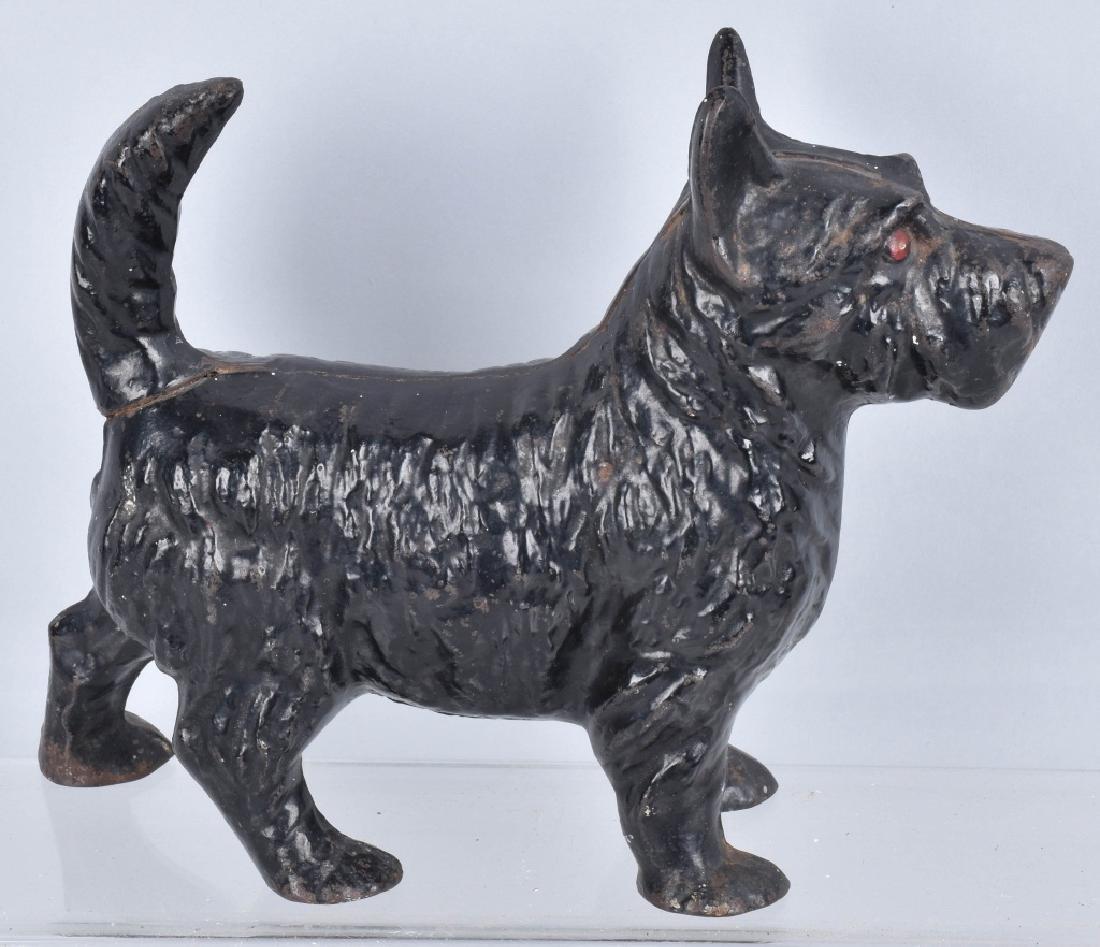 2-SCOTTIE DOG CAST IRON DOORSTOPS - 3