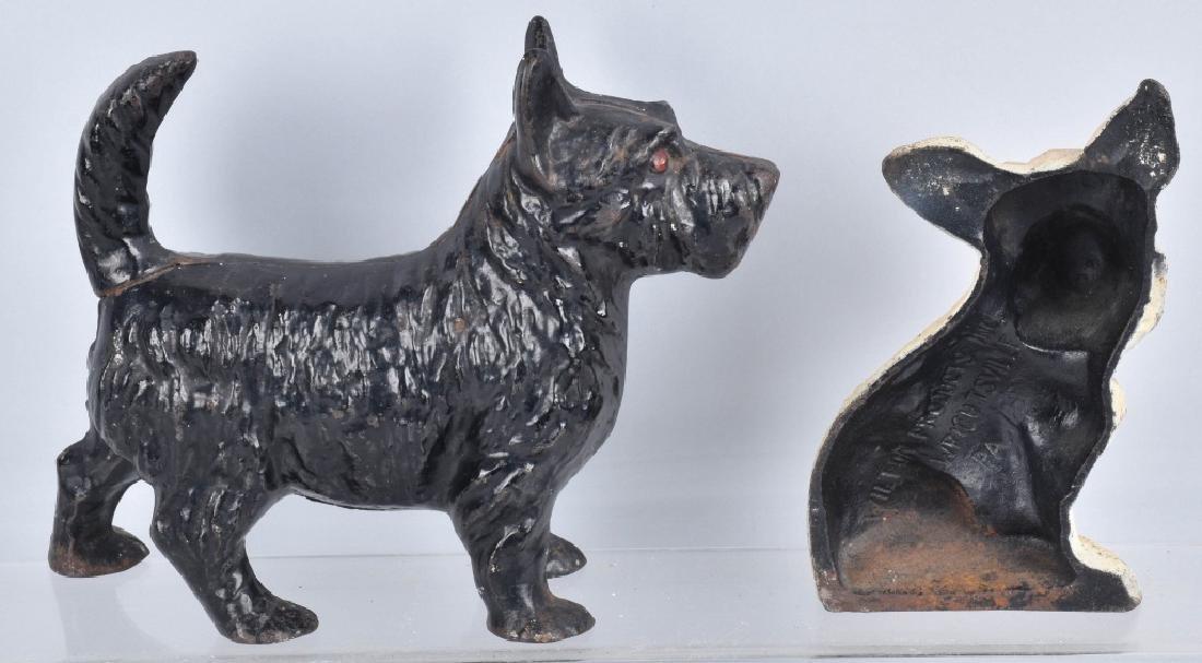 2-SCOTTIE DOG CAST IRON DOORSTOPS - 4