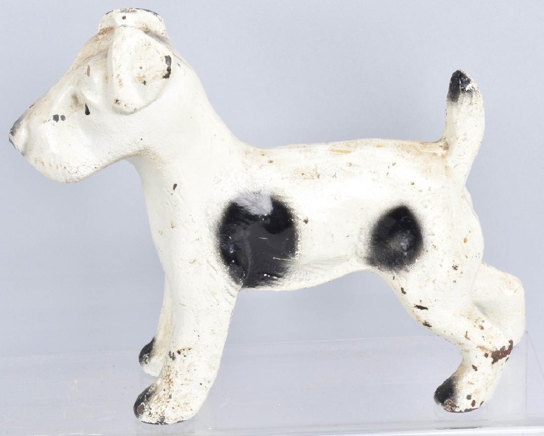 3-CAST IRON TERRIER DOG DOORSTOPS - 2