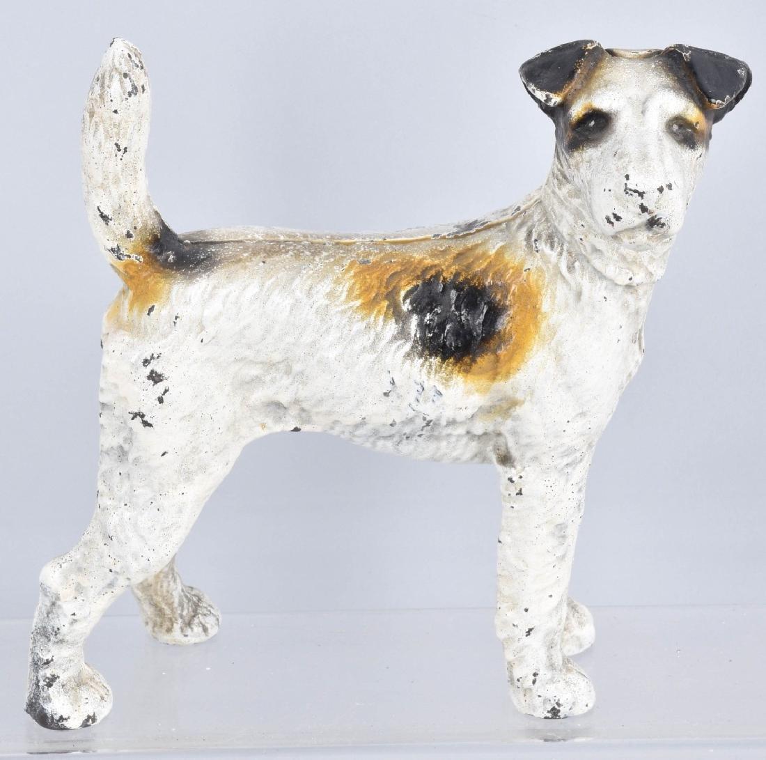 3-CAST IRON TERRIER DOG DOORSTOPS - 3