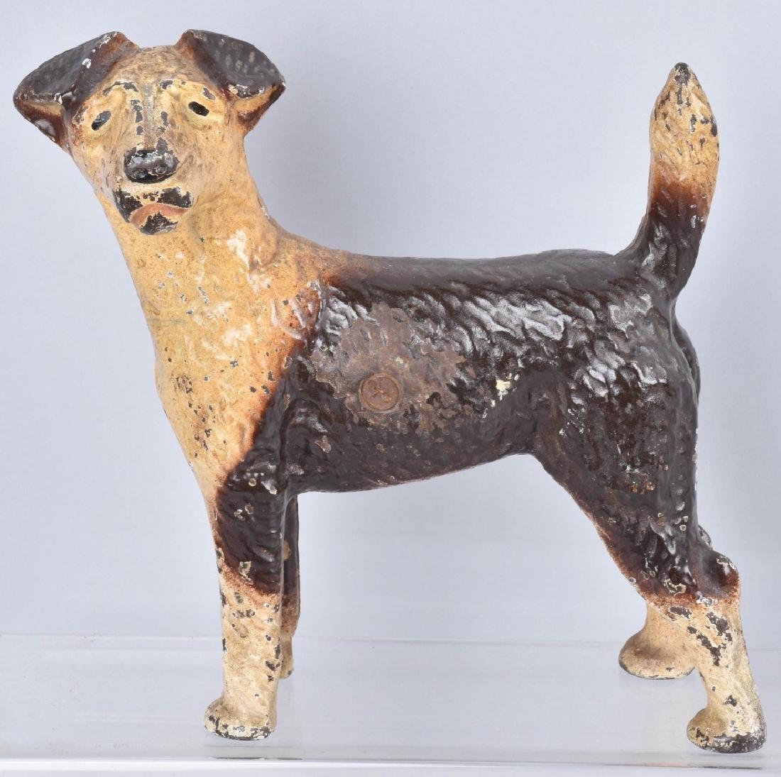 3-CAST IRON TERRIER DOG DOORSTOPS - 4