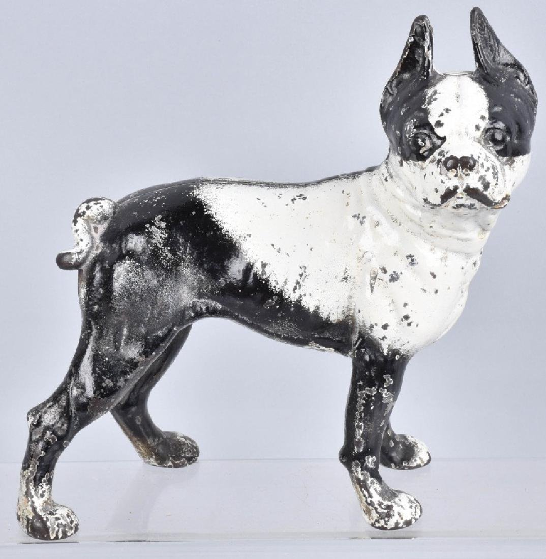 3-BOSTON TERRIER CAST IRON DOORSTOPS - 3