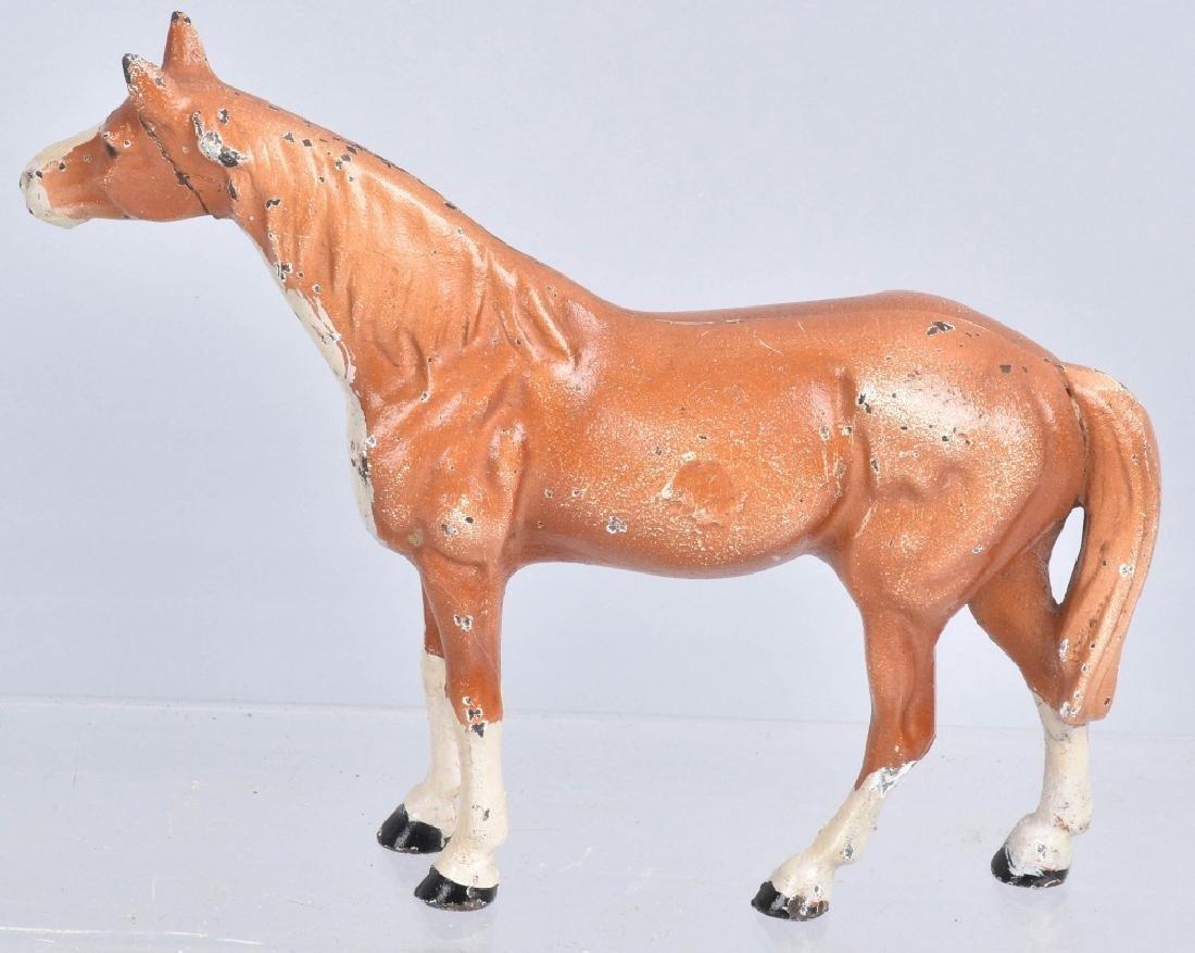 3-.HUBLEY HORSE CAST IRON DOORSTOPS - 4