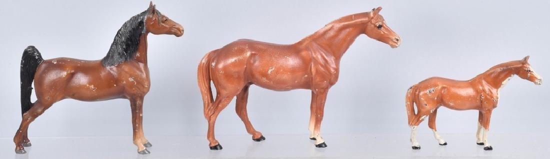 3-.HUBLEY HORSE CAST IRON DOORSTOPS - 5