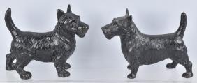 2-SCOTTIE DOG CAST IRON DOORSTOPS
