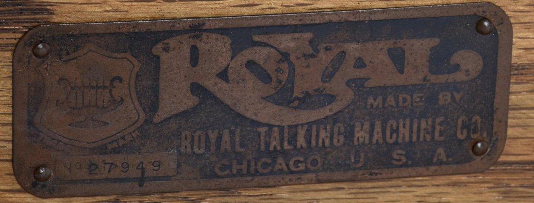 1901 ROYAL TALKING MACHINE w ORNATE EXTERNAL HORN - 5