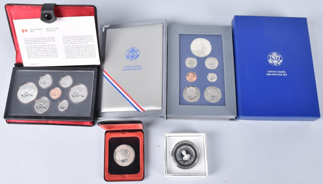 LOT OF US & FOREIGN SILVER PROOF SETS