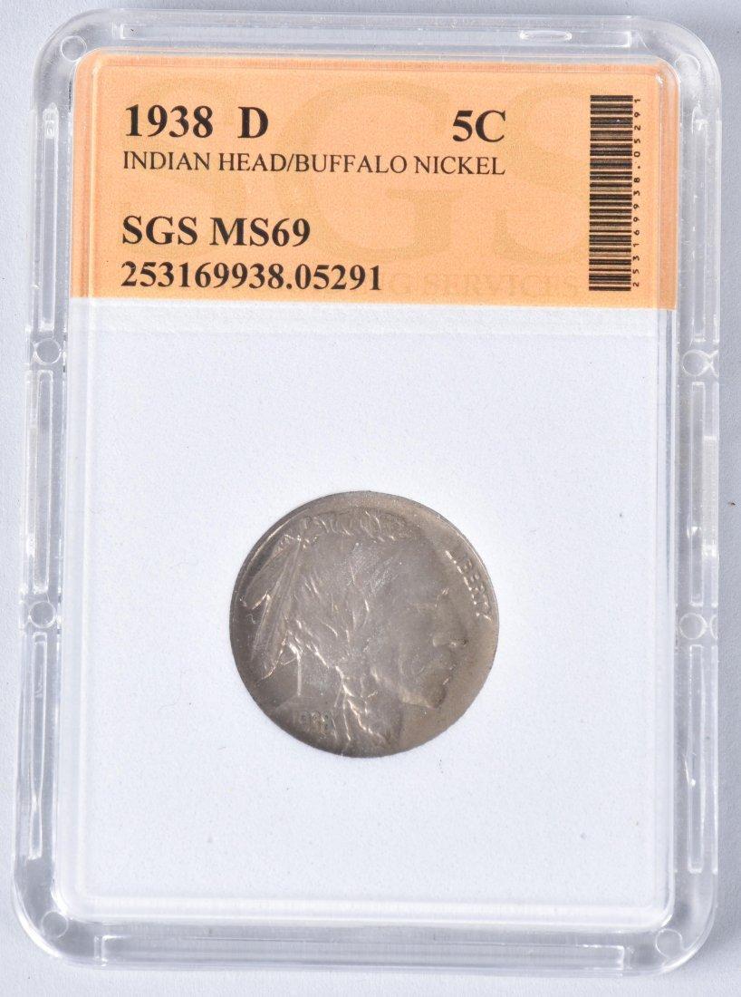 3- US & AUSTRIA GRADED SLAB COINS - 3