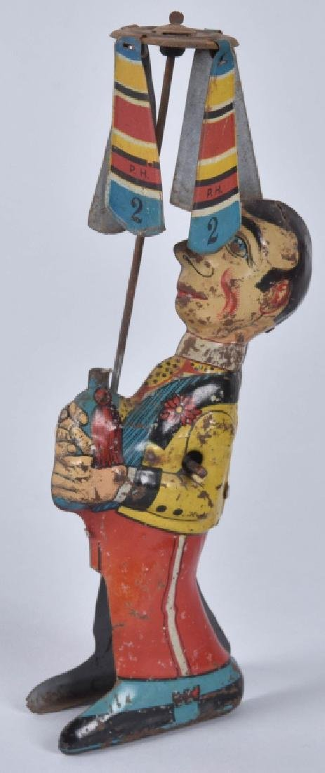 GELY Tin Windup MAN WITH UMBRELLA