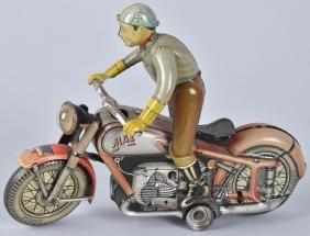 ARNOLD Tin Windup MAC MOTORCYCLE RED