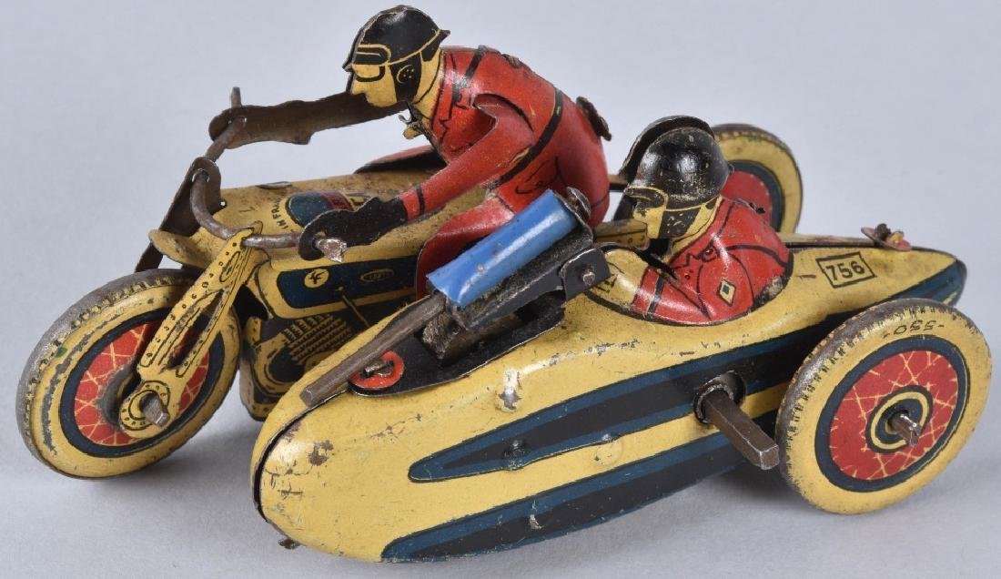 SFA Tin Windup MOTORCYCLE w/ SIDECAR