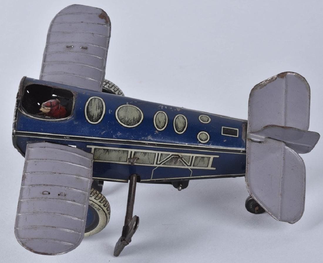 GUNTHERMANN Tin Windup ROLLOVER AIRPLANE