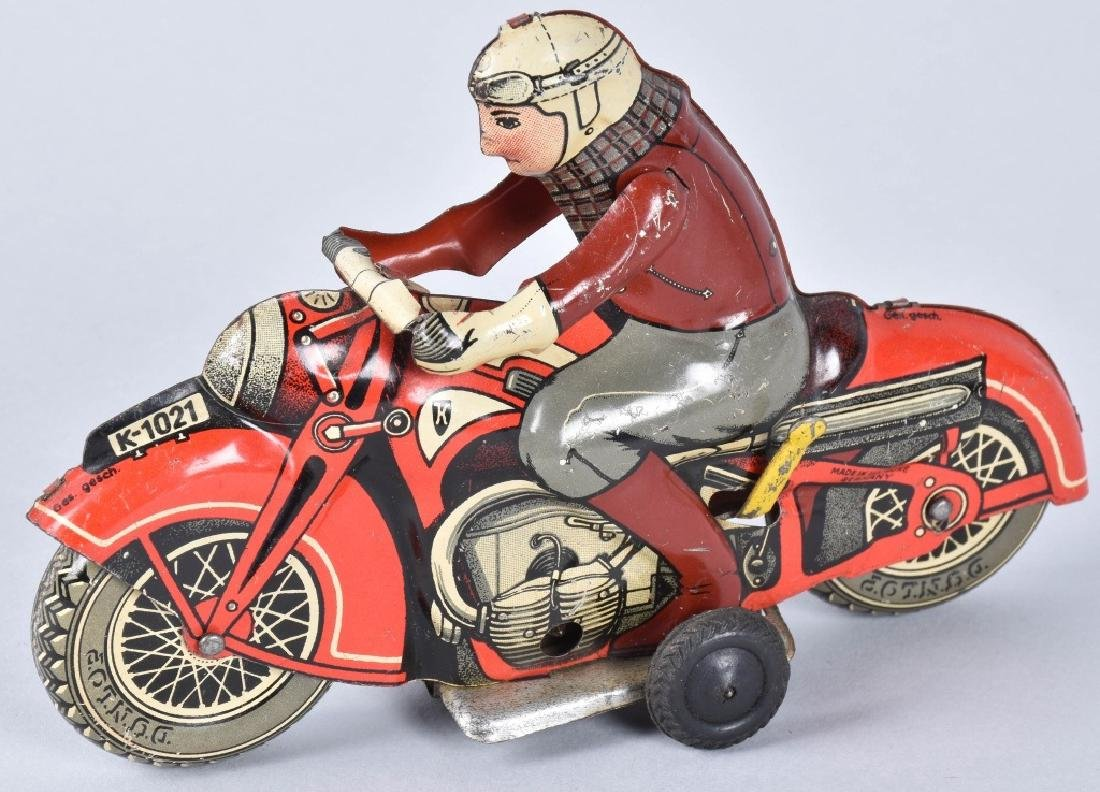 US ZONE GERMANY Tin Windup MOTORCYCLE