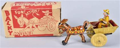 MARX Tin Windup BALKY MULE w/ BOX