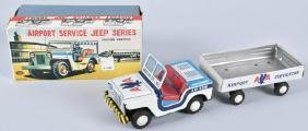 JAPAN AMERICAN AIRLINES JEEP & TRAILER w/BOX