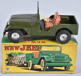 JAPAN Tin Friction NEW JEEP w/ BOX