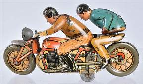 CKO Tin Windup MOTORCYCLE w/ 2 RIDERS