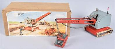 US ZONE GERMANY Tin Windup STEAM SHOVEL w/BOX
