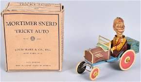 MARX Tin Windup MORTIMER SNERD TRICKY AUTO w/BOX