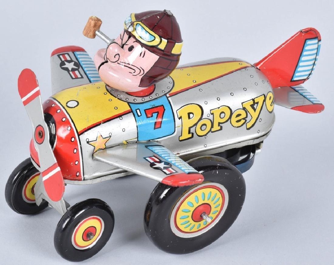 LINEMAR Tin Windup POPEYE THE PILOT