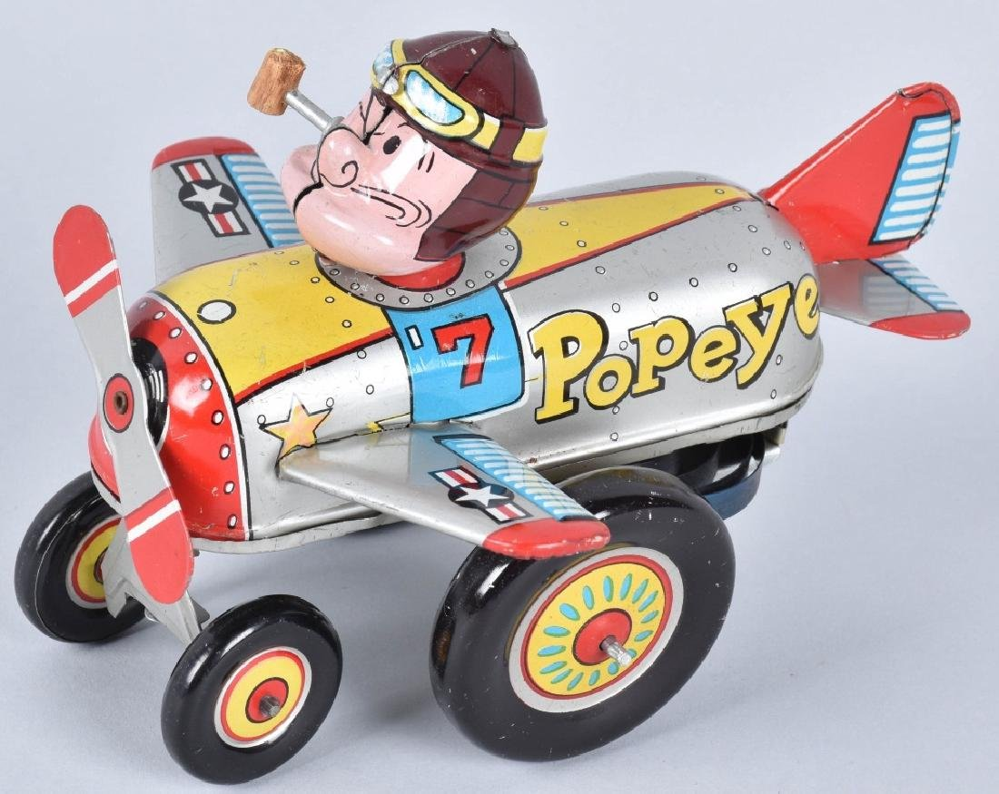 LINEMAR Tin Windup POPEYE THE PILOT
