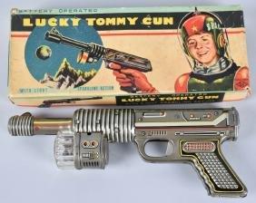 LUCKY TOMMY Battery Op SPACE GUN w/ BOX