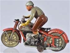 ARNOLD Tin Windup RED MAC MOTORCYCLE