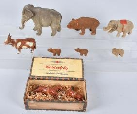 COMPOSITION ANIMAL LOT, CANDY CONTAINER & MORE