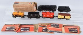 LIONEL #238 ENGINE TENDER & 4 FREIGHT CARS