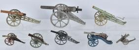 8- VINTAGE TOY CANNONS
