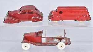 3-1930'S WYANDOTTE TRUCKS and AUTO