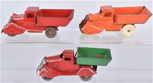 3-1930'S MARX and WYANDOTTE TRUCKS