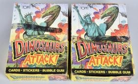 2- 1988 TOPPS DINOSAURS ATTACK CARDS WAX BOXES