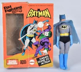 """1970s MEGO 8"""" FIST FIGHTING BATMAN w/ BOX"""