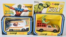 CORGI CAPTAIN MARVEL & HULK CARS MIB