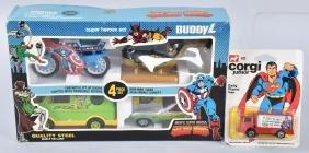 BUDDY L SUPER HERO SET & CORGI SUPERMAN VAN