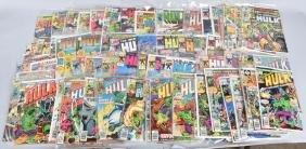 LOT OF VINTAGE INCREDIBLE HULK COMIC BOOKS