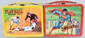 SUPERMAN & PLAY BALL LUNCH BOXES