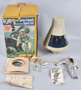 1960s GI JOE SPACE CAPSULE & SPACE SIUT w/ BOX