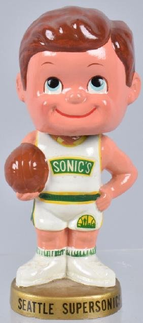 SEATTLE SUPERSONICS BASKETBALL BOBBLE HEAD