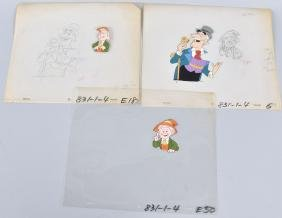 LOT OF KEEBLER ELF FILM CELLS & DRAWINGS