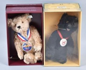 STEIFF MOHAIR BLACK BEAR CUB & SAM TEDDYBEAR 28