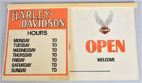 HARLEY DAVIDSON DS OPEN-CLOSED SIGN