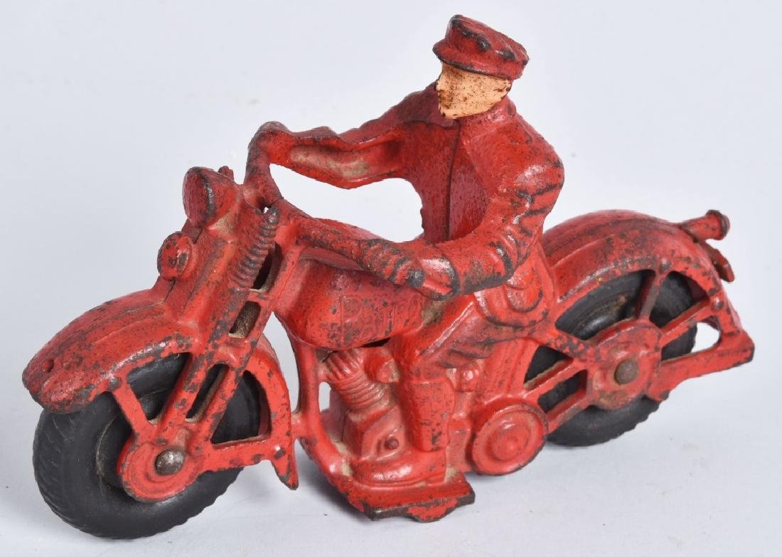 "6 1/2"" HUBLEY Cast Iron PATROL MOTORCYCLE"