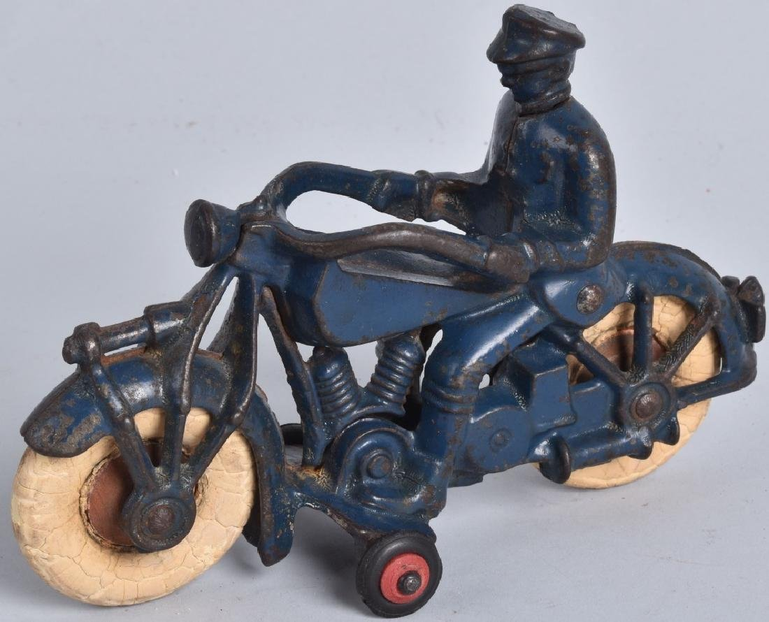 "7"" AC WILLIAMS Cast Iron POLICE MOTORCYCLE"