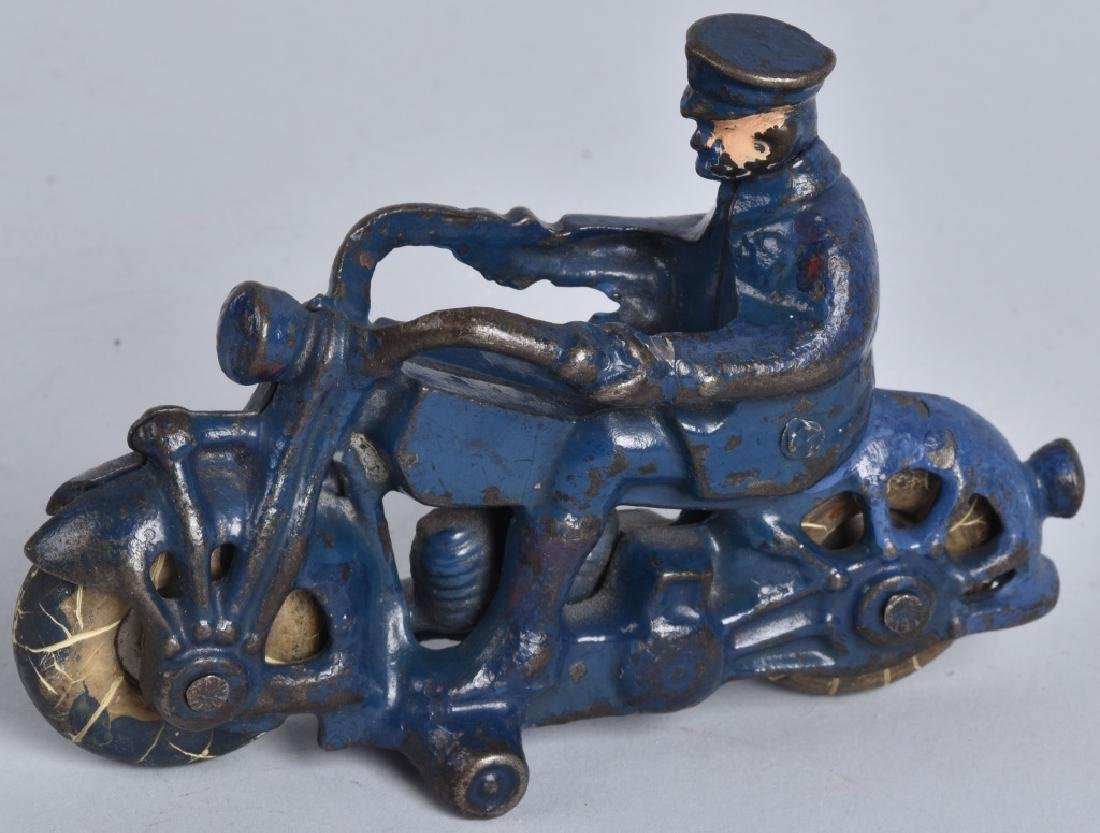 "5"" AC WILLIAMS Cast Iron POLICE MOTORCYCLE"
