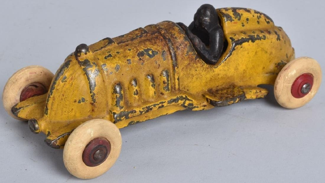 "6 1/2"" HUBLEY Cast Iron RACER Yellow"
